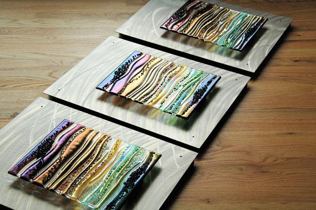 fused glass u0026 metal wall art panels