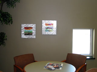 Bellin Health Seating Area Glass Wall Art