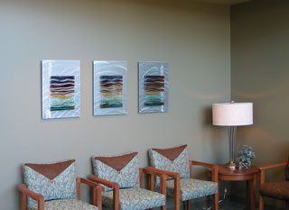 Bellin Health Seating Area Triptych Glass Wall Art