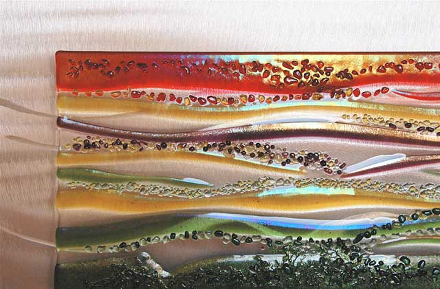 Each piece is rich in texture & Contemporary Glass Wall Art Fused Glass u0026 Metal Wall Art by Kim ...