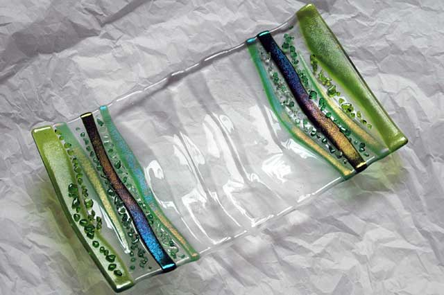 Wonderful Fused Glass Serving Platter Amazing Design