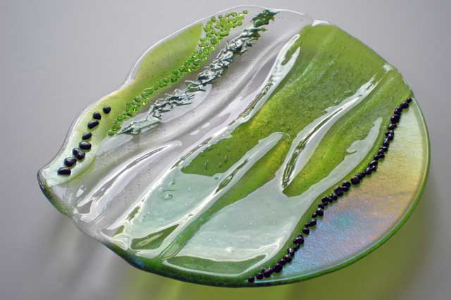 Superb Fused Glass Plate