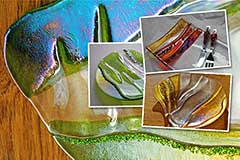 Fused Glass Plates and Fused Glass Bowls