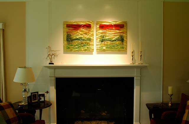 Glass Wall Art Panels by Kim Merriman Art