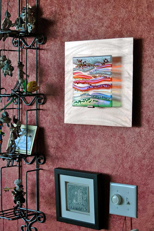 Contemporary Glass Wall Art Fused Glass Amp Metal Wall Art