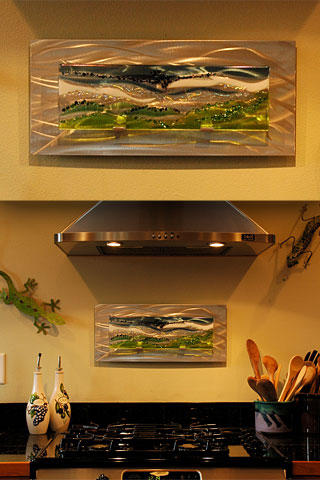Kitchen Glass Wall Art